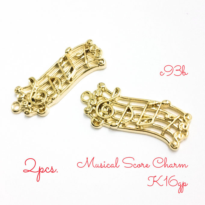 2個☆K16GP☆楽譜のミュージックスコアチャーム☆高品質【c93b】
