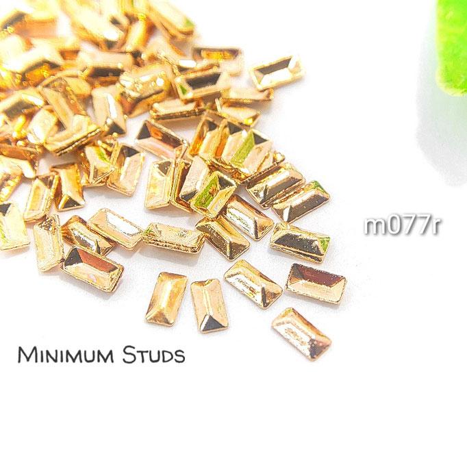 約95個 極小 銅製*半立体スタッズ・レジンやネイルに*約3×1.5mm 長方【m077r】