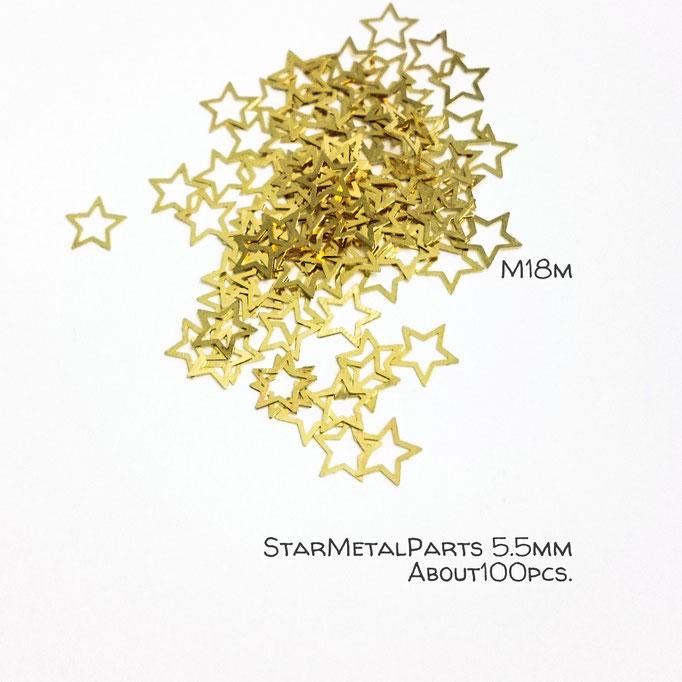 約100枚☆星の透かしメタルパーツ☆M【m18m】