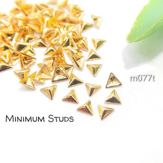 約95個 極小 銅製*半立体スタッズ・レジンやネイルに* 1辺約3mm 三角【m077t】