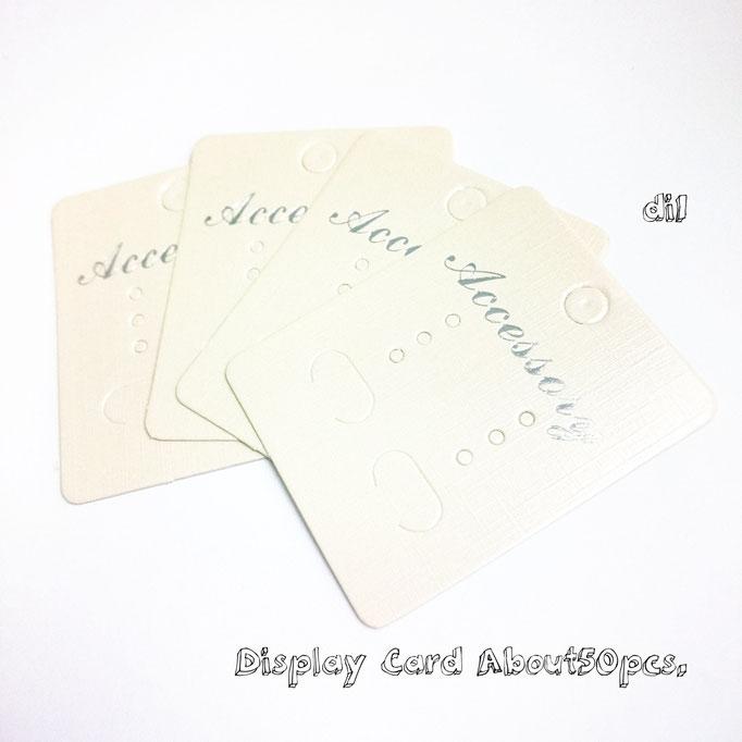 約50枚セット☆送料無料☆ディスプレイカード☆梱包資材☆オフホワイト【di1】
