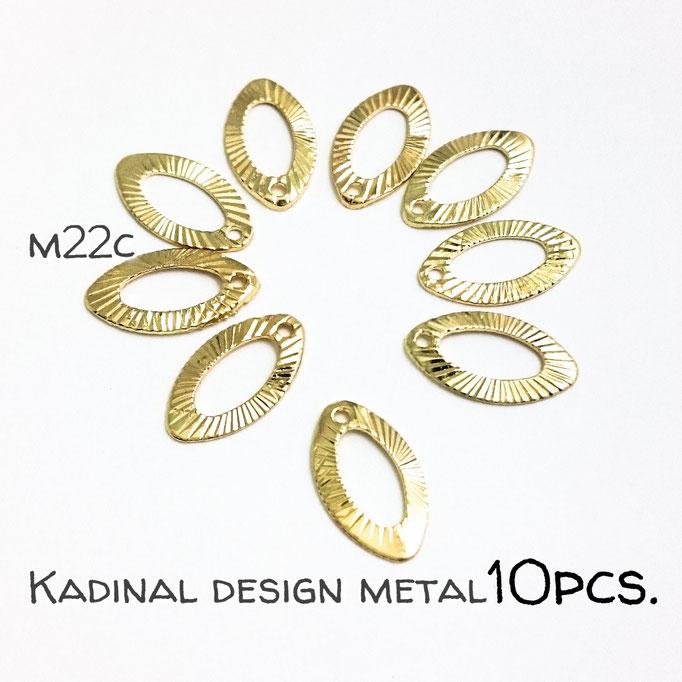 10個☆マーキス形の放射デザインメタルパーツ☆【m22c】
