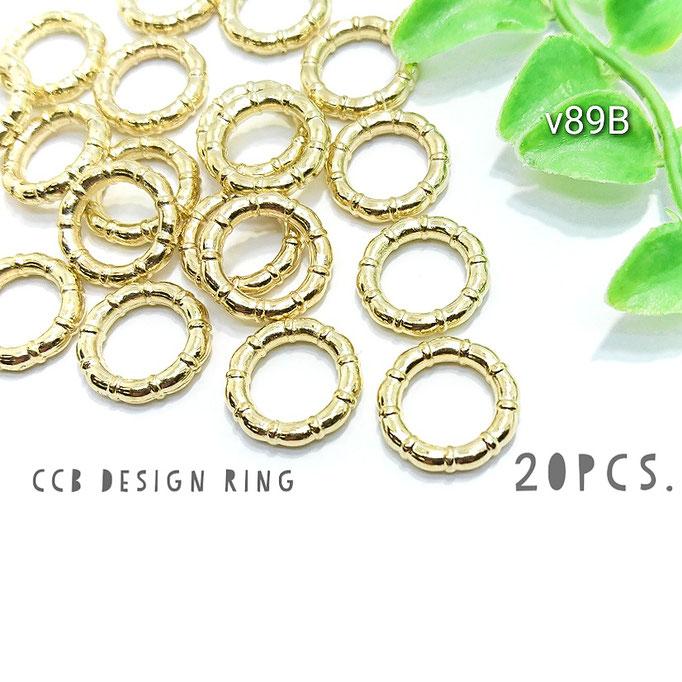 20個☆CCB-デザインリング*スペーサー☆Bタイプ 約15mm【v89B】
