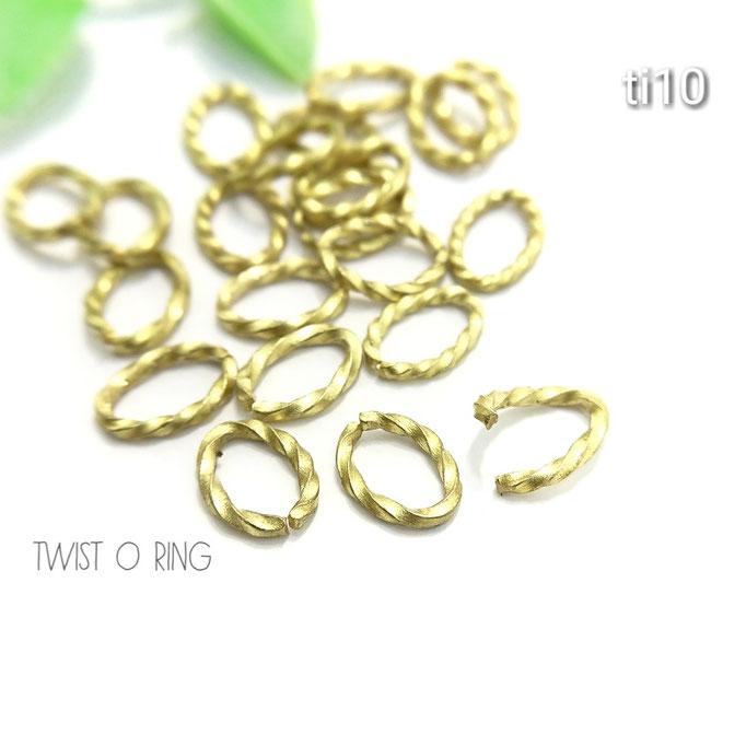 20個前後☆約8.5×6mm 真鍮製ツイストオーバル(C)カン【ti10】