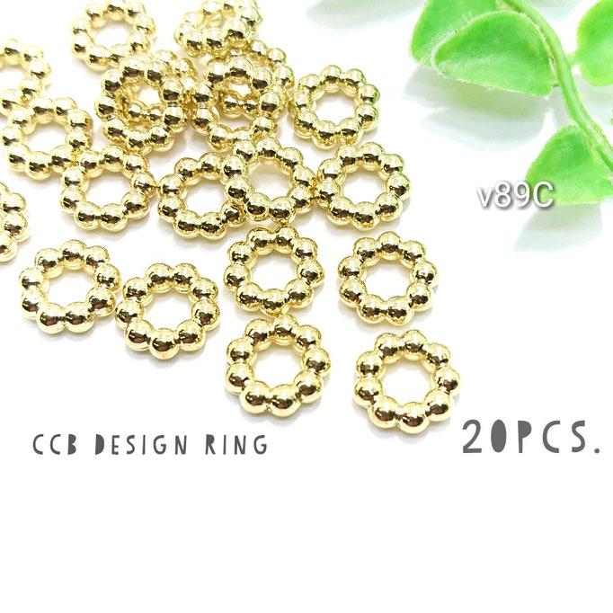 20個☆CCB-デザインリング*スペーサー☆Cタイプ 約12mm【v89C】