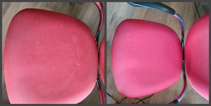 химчистка стульев, результат ДО и ПОСЛЕ сразу заметен!