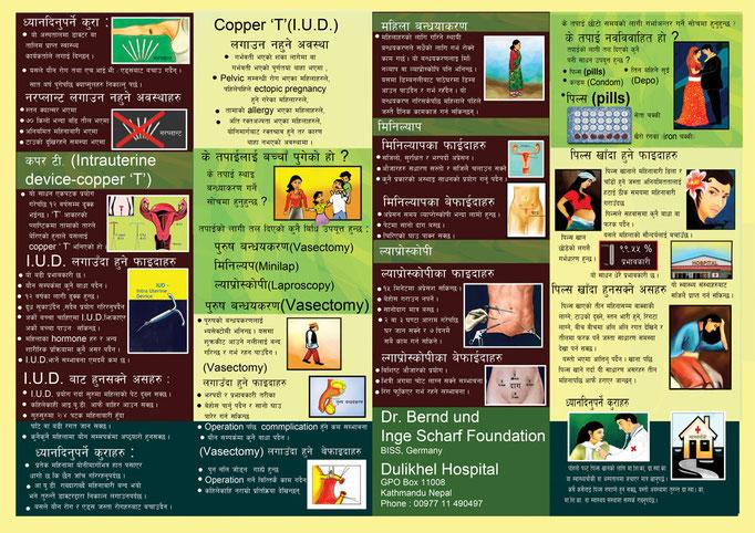 Schulungs-Flyer von den nepalesischen Krankenschwestern entworfen