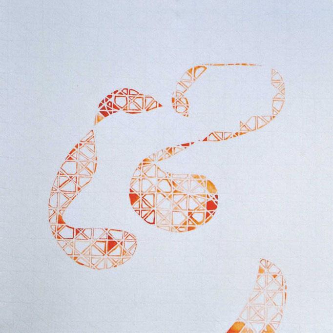 Jacques Philipp Neukom, Zeichnung mit Wachskreide auf Transparentpapier, 30x30 cm