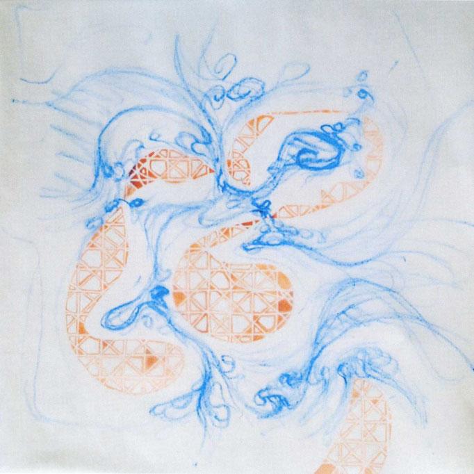 Esther Haltiner-Lüscher und Jacques Philipp Neukom, Dialog, Foto 30x30 cm