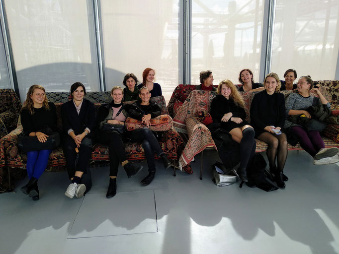 SALOON Exchange at Centre Pompidou with curator Geraldine Gomez, 2018