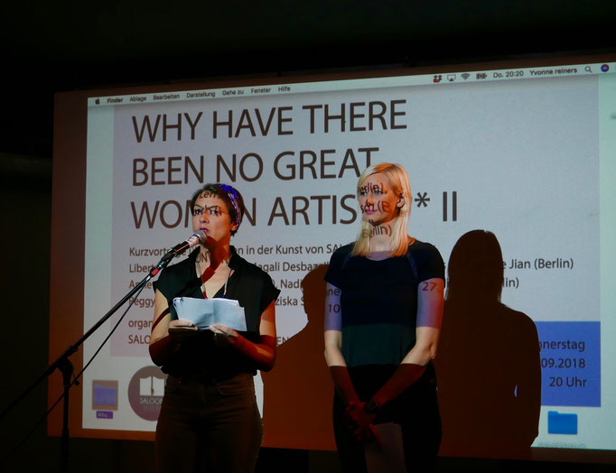 "Panel with Performing Encounters ""Why have there been no great women artists?*"", 2018"