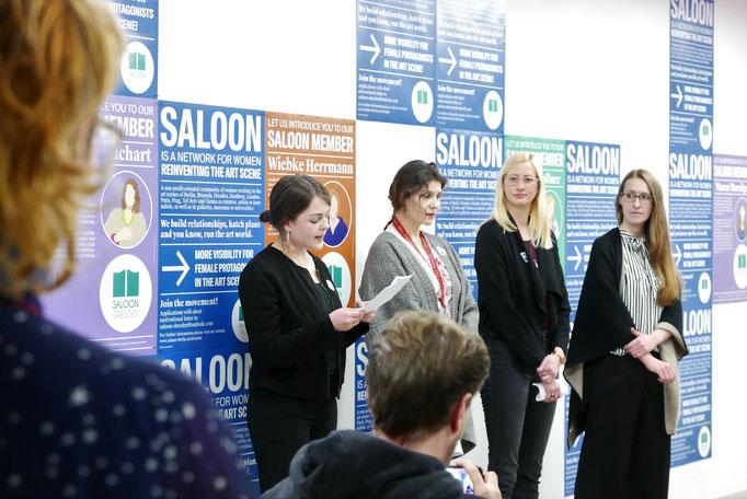 Kick-Off Dresden mit Lucie Klysch, U. Susanne Buchart, Tina Sauerländer und Maren Marzilger © Galerie Stephanie Kelly