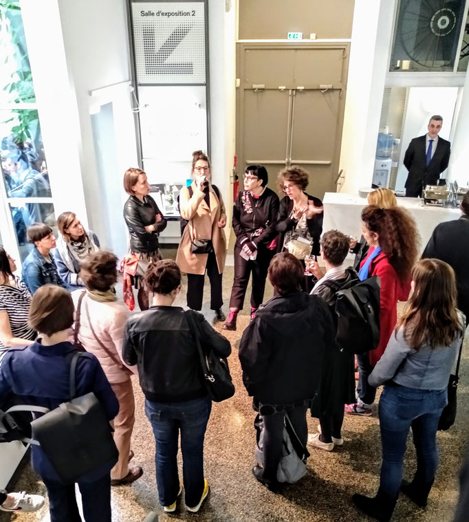 SALOON Paris at Swiss Cultural Center with curator Claire Hoffmann, 2019