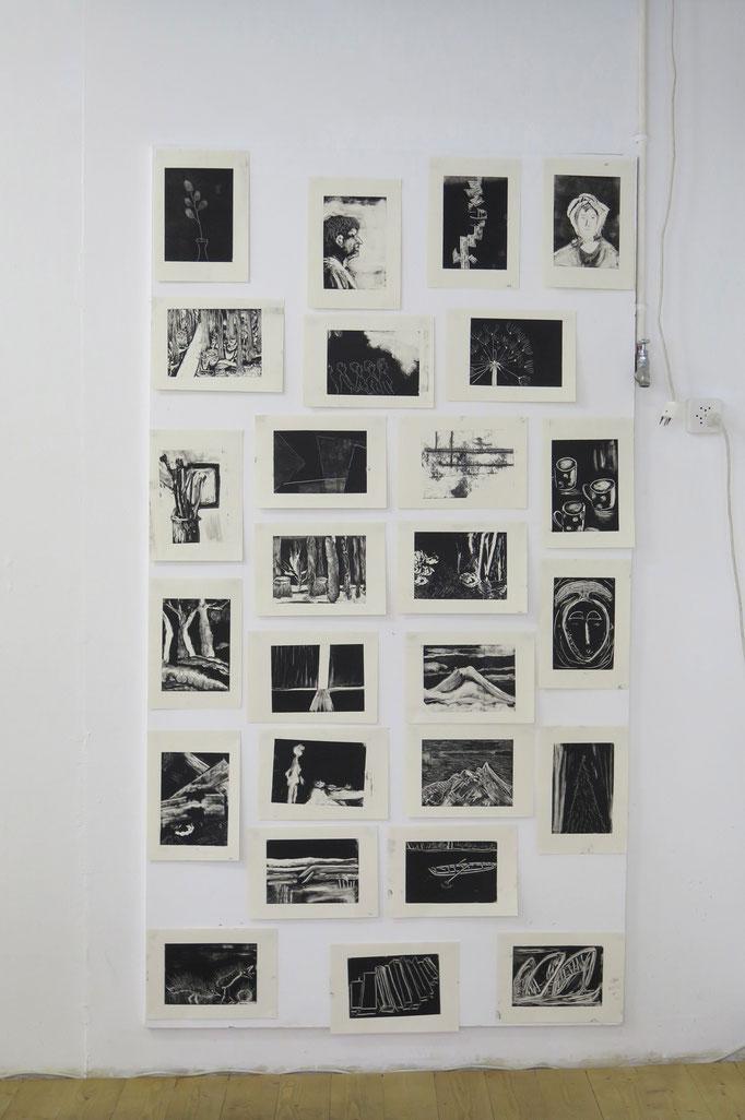 Drucktechniken: Monotypien