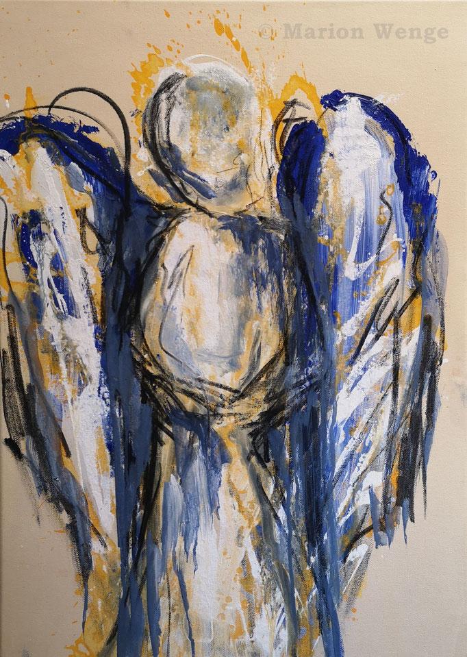 Ein Engel für Dich... (1) - Acryl auf Leinwand - 50x70 cm - 2021