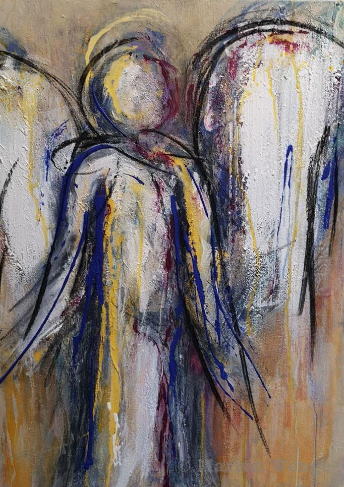 Ein Engel für Dich... (2) - Mischtechnik - 50x70 cm - 2021