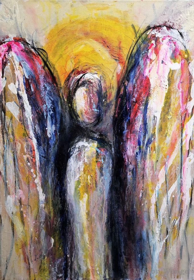 Ein Engel für Dich... (3) - Mischtechnik - 50x70 cm - 2021