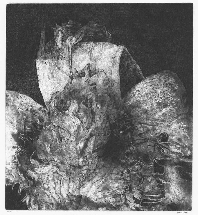 Une rose du jardin des Minuits - cuivre - 45,5/50,5 cm - 2016