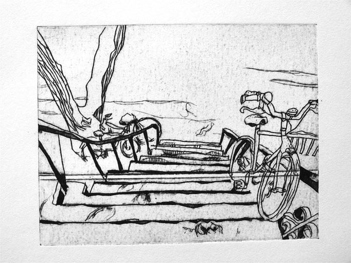 Notre entrée et ses vélos - TetraPack - 10/13 cm - 2016