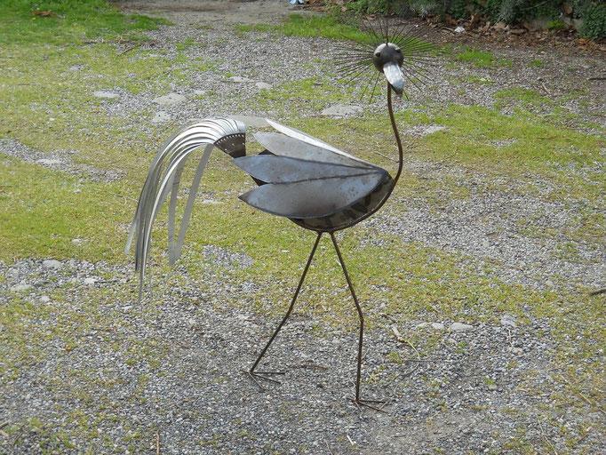 Oiseau. Fer. H107. L70. l47.