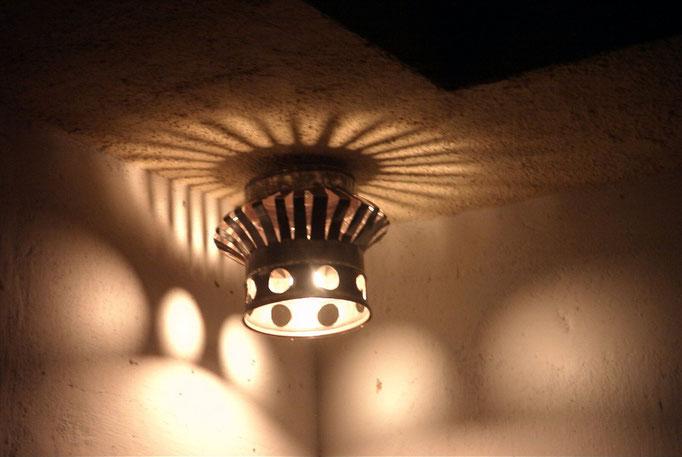 Lampion. H:25 D:30.Fer.