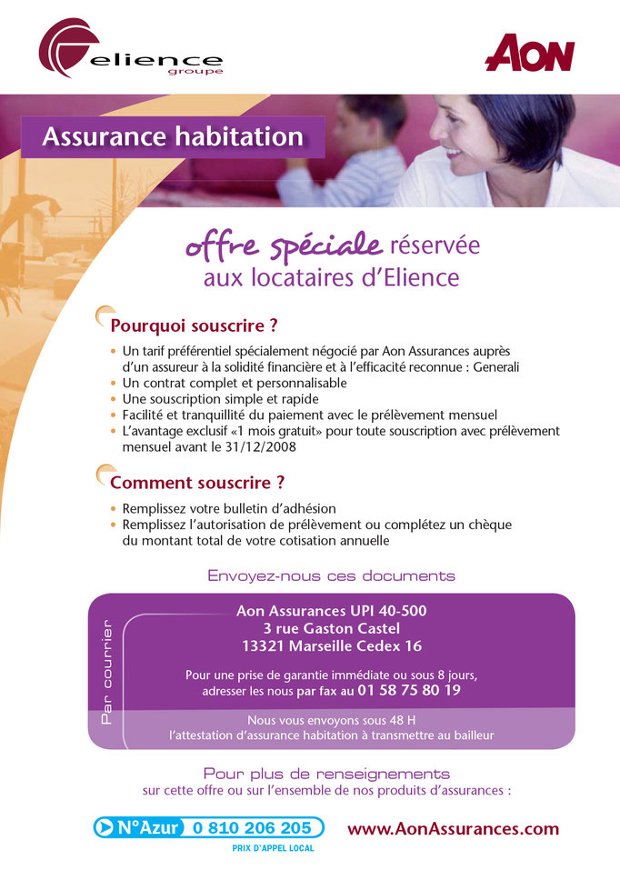 FLYER, Groupe Aon France, Recto