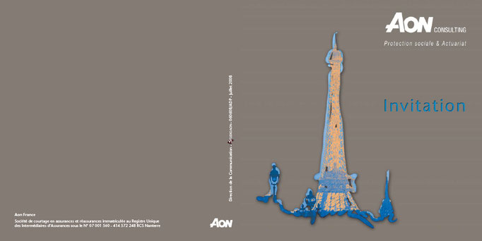 INVITATION, Groupe Aon France, CREATION DE L'ILLUSTRATION