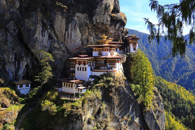 Kloster Taktshang (Tigernest) (3.120 m)
