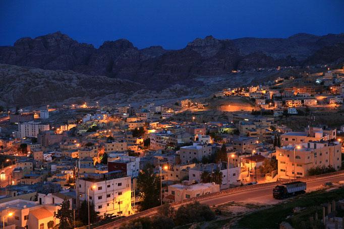 Stadt Petra in Jordanien