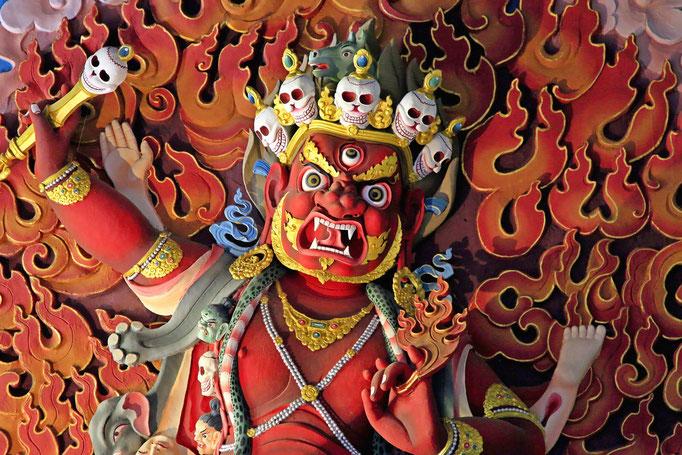 Dämon Mahakala der Beschützer, Tashichho Dzong, Thimphu