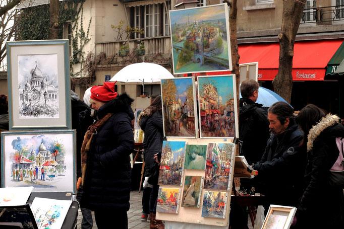 Maler auf dem Monmartre