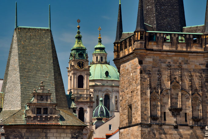 Kleinseitner Brückenturm und St. Nikolaus Kirche