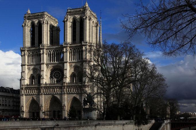 Notre Dame vor dem Feuer