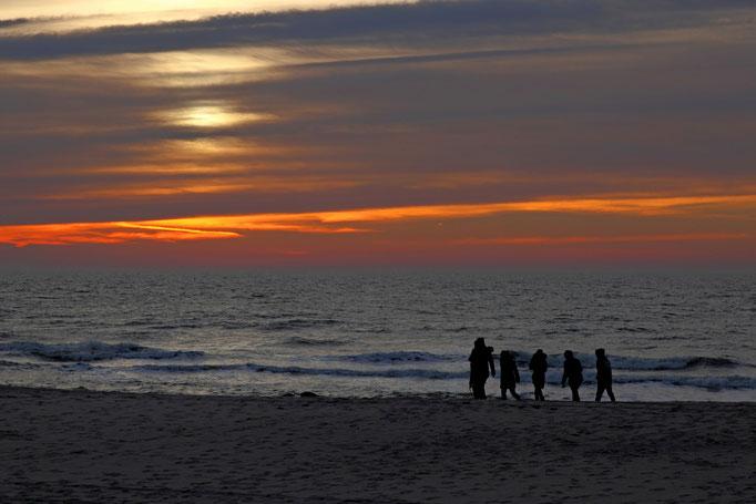 Sonnenuntergang am Strand von Hörnum