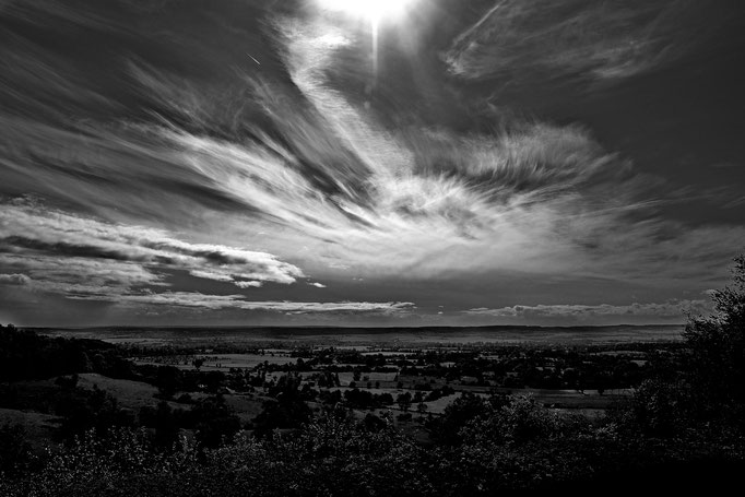 Wolken über der Normandie