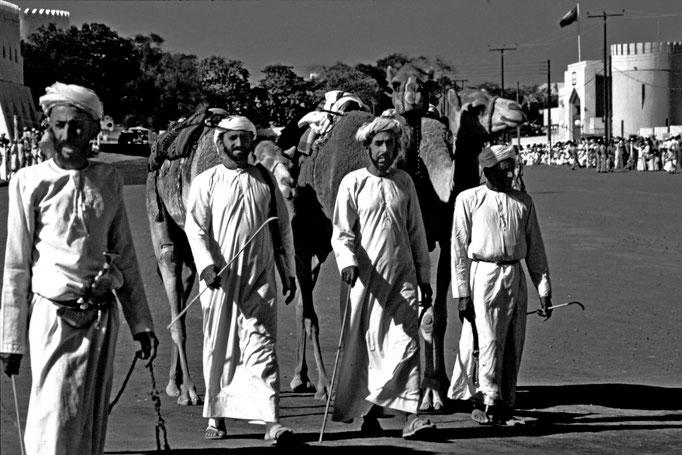 Auftakt zum Kamelrennen in Sohar (Al Batinah North)