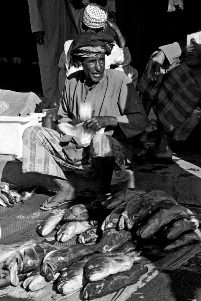 Auf dem Fischmarkt, Muttrah (Muscat)