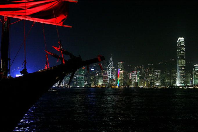 Blick von Hongkong Kowloon auf Hongkong Island