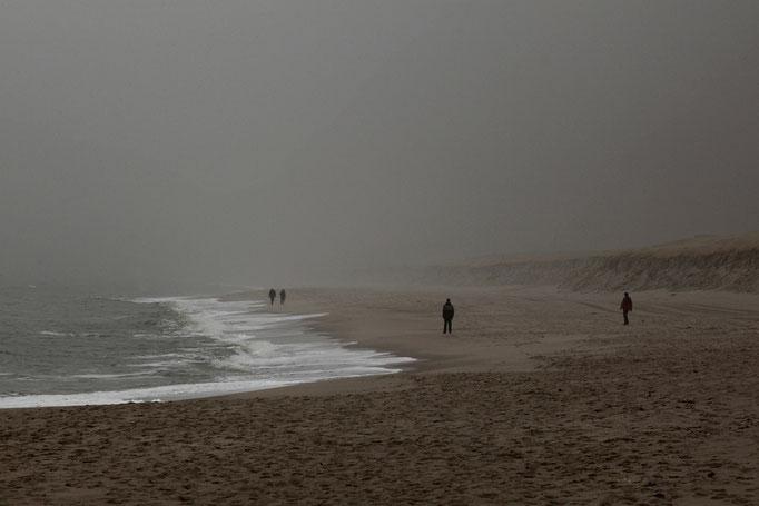 Schlechtwetterfront am Strand bei Hörnum
