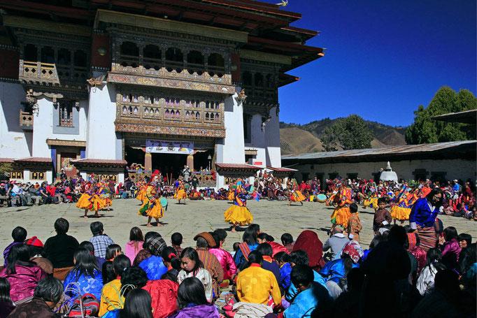 Kranich-Festival, Kloster Gangtey, Phobjikha-Tal
