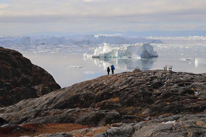 Fernwanderer am Icefjord