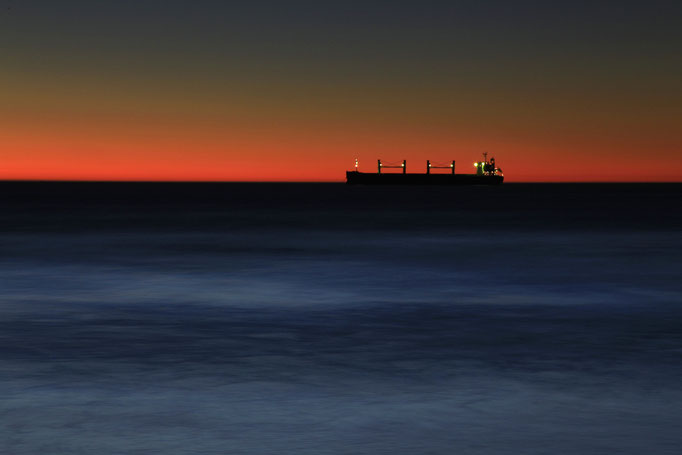 Sonnenuntergang vor Kapstadt