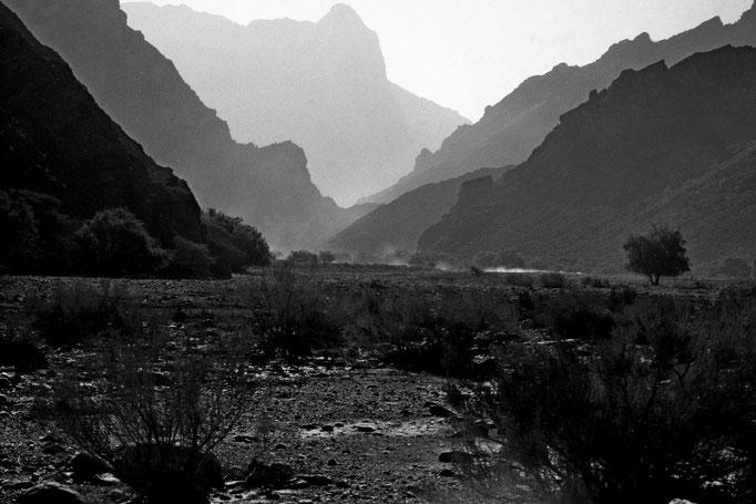 Anfahrt in das Wadi Mistal (Al Batinah South)