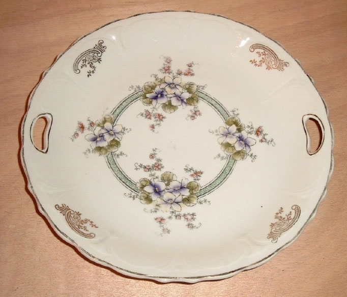 """0567/Gebäckteller ~ 1900, Marke """"CA"""", Ø 27 cm, EUR 15,-"""
