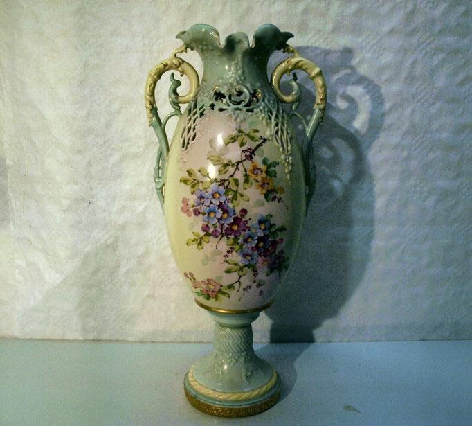 """4046/Vase """"Turn-Teplitz Bohemia"""",H 38cm,handgem.,EUR 120,-"""