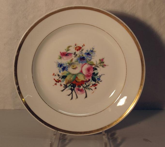 4010/Teller ~1820, o.Marke, handgemalt, Ø 27,5cm, EUR 64,-
