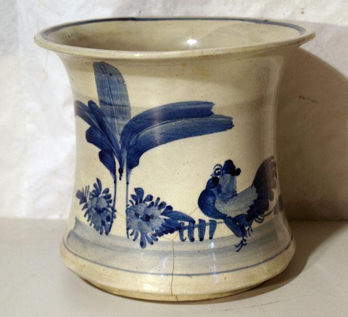 4181/ Blumenübertopf ~1910, China, Haarrisse, H 19, Ø 21cm, EUR 42,-