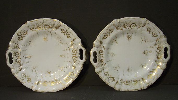 4374/ Zwei Teller ~1850, FAS, Ø 25cm, EUR 49,-