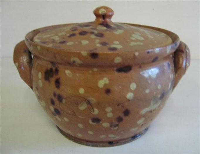 2047/Keramik-Topf ~1900, Ø 15 cm, EUR 32,-