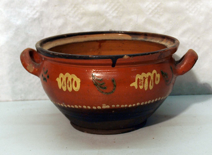 4240/ Keramikschale o. Deckel ~ 1830, Marburg, H 12, Ø 20cm, EUR 68,-